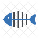 Seafood Fish Skeleton Icon