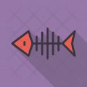 Fish Bone Skull Icon