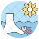 Fish Therapy Fish Treatment Foot Therapy Icon