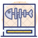 Museum Showcase Fishbone Aquatic Fossils Icon