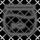Fishbowl Aquarium Veterinary Icon