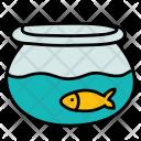 Fishbowl Bowl Water Icon