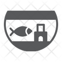 Fishbowl Aquarium Fish Icon