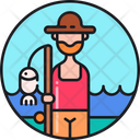 Fisherman Fish Farmer Fishing Icon