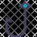 Fish Hook Nautical Icon
