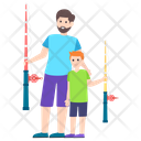Fishing Picnic Activity Outdoor Game Icon