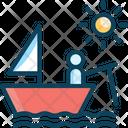 Fishing Boat Canoe Icon