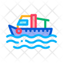 Fishing Boat Water Icon