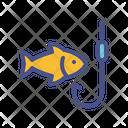 Bait Rod Fish Icon