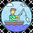 Fisherman Fishing Fishing Hook Icon