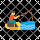 Fishing Human Activity Icon