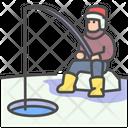 Winter Fishing Bait Icon
