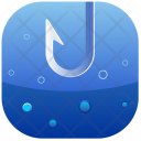 Bubbles Hook Fishing Icon