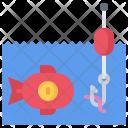 Fishing Fish Coin Icon