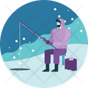 Fishing Outdoor Winter Icon