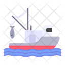 Fishing Boat Ship Icon