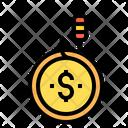 Fishing Money Money Dollar Coin Icon