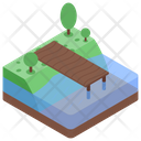 Outdoor Picnic Fishing Place Icon