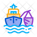 Fishing Ship Process Icon