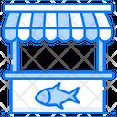 Fishmonge Fish Shop Fish Stall Icon