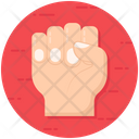 Fist Clenched Hand Palm Icon