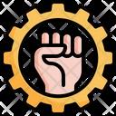 Fist Gear Power Icon