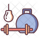 Dumbbell Weight Gym Icon
