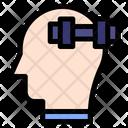 Fitness Gym Mind Icon