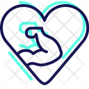 Fitness Heart Love Icon