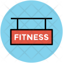 Fitness Signboard Sign Icon