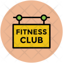 Fitness Signboard Club Icon