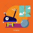 Fitness Building Interior Icon