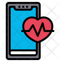 Fitness Application Heart Rate Healthcare Icon