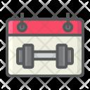 Fitness Calendar Icon