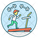Fitness Club Gym Running Icon