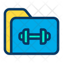 File File And Folder Fitness File Icon