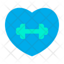 Heart Fitness Gym Icon