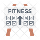 Fitness Plan Board Icon