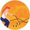 Fitness Rope Gym Equipment Gym Exercise Icon