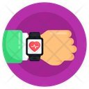 Fitness Tracker Fitness Watch Healthcare Watch Icon
