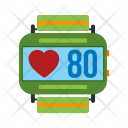 Fitness Watch Heart Icon