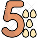 Five Number Education Icon