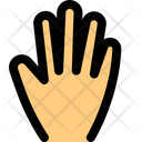 Five Finger Hand Sign High Five Icon