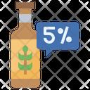 Five Percentage Alcohol Icon