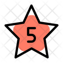 Five Star Rating Review Icon