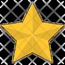 Five Star Gold Star Award Icon