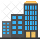 Five Star Hotel High Building Hotel Building Icon