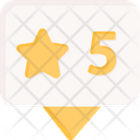 Rating Star Review Icon