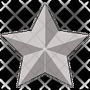 Five Star Silver Star Award Icon