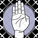 Fiver Fingers Fingers Finger Icon
